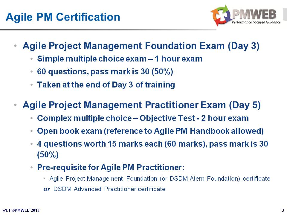 PMWEB - Agile PM Course v1.1 - Slide 3